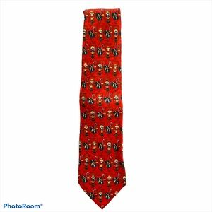 100% Silk Handmade Nutcracker Christmas Mens Tie